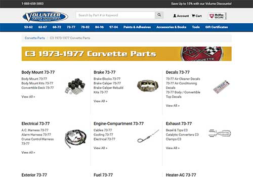 Volvette Redesign - High-Level Subcategory Page