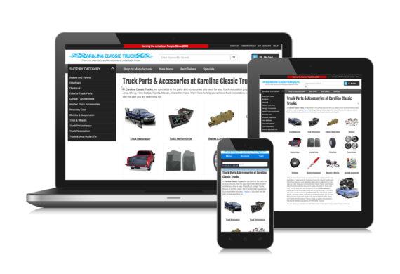 Carolina Classic Trucks Ecommerce Website