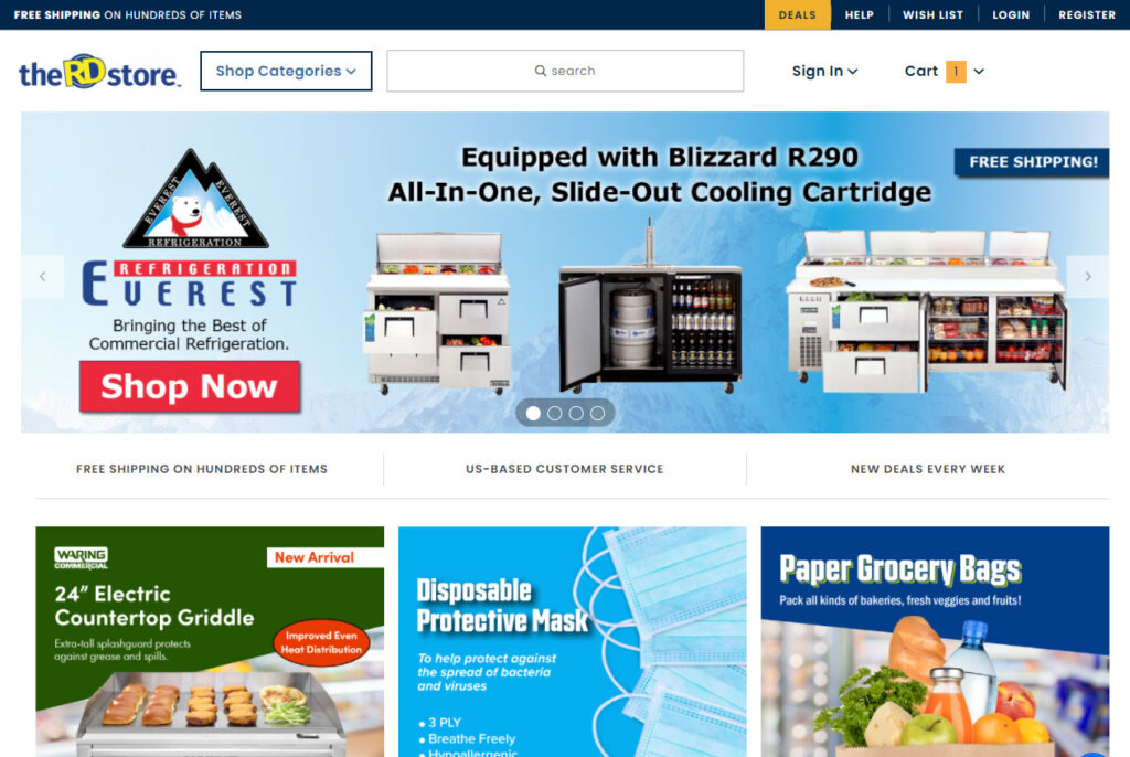TheRDStore.com Homepage - Miva Merchant E-Commerce Website